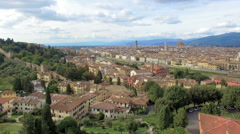 Flight over Florence Stock Footage