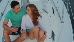 Sea voyage on the yacht. - stock footage