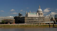 St Pauls Cathedral on a sunny afternoon - stock footage