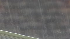 Raindrops jumping on impact with a roof 50 - stock footage