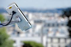 Security camera on a city Stock Photos