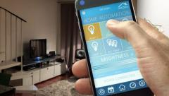 Smart Home Device - Home Automation - Internet of Things Stock Footage