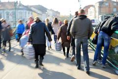 Busy city people blur Kuvituskuvat