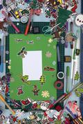 Xmas scrapbook layout Stock Photos