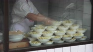 Stock Video Footage of Stacks Of Noodle Bowls In Window Chengdu China