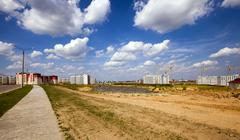 new construction  . Belarus - stock photo