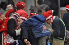 Stock Photo of SAPA, VIETNAM - FEBRUARY 24, 2013: Unidentified Red Dao (Red Yao, Dzao) women