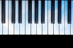 Sky colored piano Stock Photos