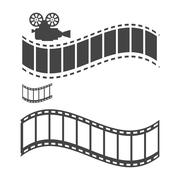 Stylized filming sample text Stock Illustration