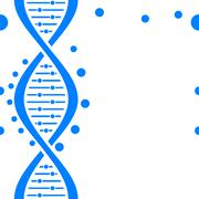 Seamless DNA background Stock Illustration
