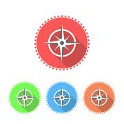 Compass icon set - stock illustration