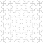 Seamless pattern in the form of puzzle Stock Illustration
