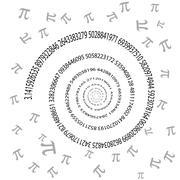 Pi spiral Stock Illustration