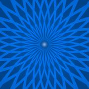 Abstract background with spiral blue rays - stock illustration