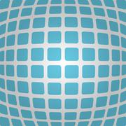 Bulging blue background with rounded rectangles - stock illustration