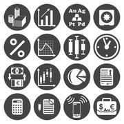 Investor icons set Stock Illustration