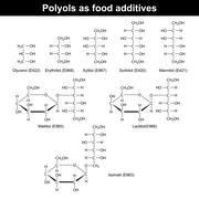 Polyols as food additives Stock Illustration