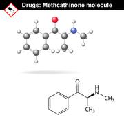 Methcathinone recreational drug molecule Stock Illustration