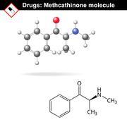 Methcathinone recreational drug molecule - stock illustration