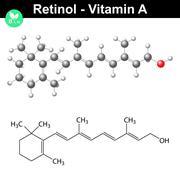 Retinol structural chemical formula Stock Illustration