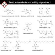 Food antioxidants and acidity regulators Stock Illustration
