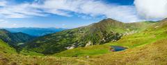 Alpine lake Brebeneckul on summer mountains Stock Photos