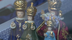 Stock Video Footage of Ceramic dolls for sale in Prague