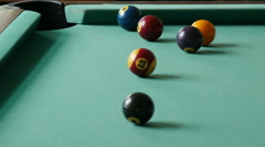 Pool game at daytime Stock Footage