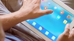 Close up of an smart home tablet PC Stock Footage