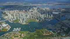 Vancouver from the Sky - Helicopter Footage Stock Footage