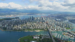 Vancouver Helicopter Footage Looking North Stock Footage