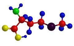 Molecular structure of methionine (proteinogenic amino acid) Stock Illustration