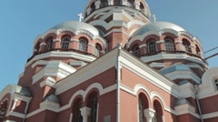 Spaso-Preobrazhensky Cathedral in the city of Nizhny Novgorod - stock footage