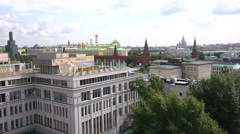 top view of the Moscow Kremlin - stock footage