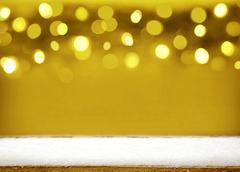 Christmas golden bokeh background. Stock Illustration