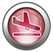 Icon, Button, Pictogram Airport Arrivals Stock Illustration