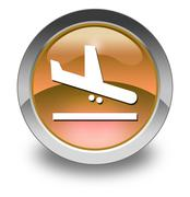 Stock Illustration of Icon, Button, Pictogram Airport Arrivals