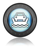 Icon, Button, Pictogram Vehicle Ferry - stock illustration