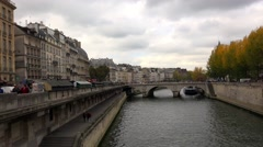 The River Seine in Paris. France. 4K. Stock Footage