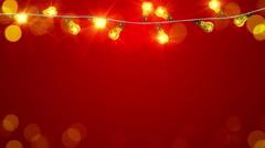 Flashing christmas lightbulbs loopable animation 4k (4096x2304) Stock Footage