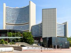 The United Nations Office in Vienna - stock photo