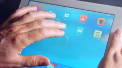 Close up of an smart home tablet PC - stock footage
