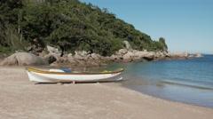 Fishing Boat - Bombinhas/SC - Brazilian Beach (Paradise) 02 Stock Footage