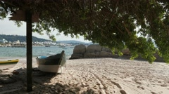 Fishing Boat - Bombinhas/SC - Brazilian Beach (Paradise) 03 Stock Footage