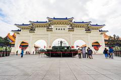 Chiang Kai-shek Memorial Hall in Taipei, Taiwan Stock Photos