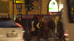 People wandering on the pavement 4K Stock Footage