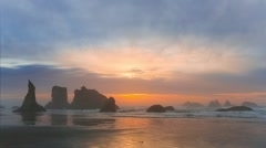 Sunset on the Pacific Coast Stock Footage