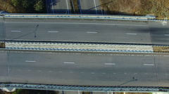 Flying Over The Highway Quadrocopters Stock Footage