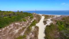 Lighthouse Beach Path Stock Footage