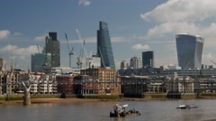 Stock Video Footage of Pan from The City to St Pauls